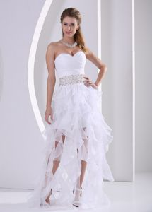 South Dakota Ruffles Graduation Dress with Beading Sash and Ruche