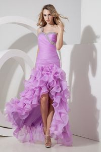 One Shoulder Lavender High-low Beads Grad Gown in Larbert Falkirk