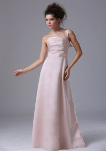 Pink Ruched One Shoulder Taffeta Graduation Dress in La Jolla