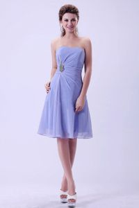 Lilac Chiffon Ruched Cute Graduation Dresses in Garden Grove