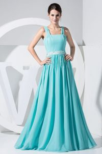 Beading Aqua Blue Graduation Dresses for Evening in Canoga Park