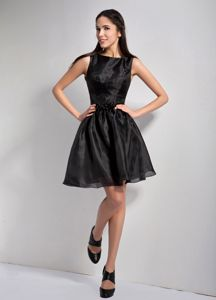 Bateau Beading Black Eighth Grade Graduation Dress in Glendale