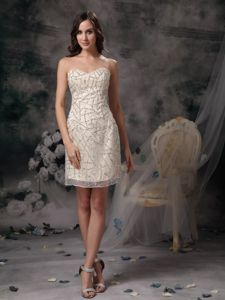 Beading Champagne Short Nanaimo British Columbia Graduation Dress