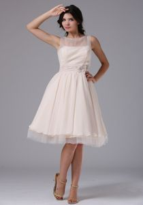 Milton Ontario Bateau Neck Flowers Graduation Dresses for High School