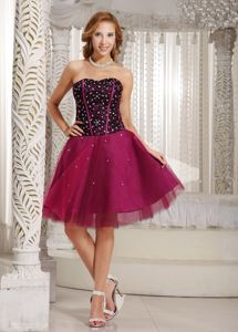 Beading Sweetheart Fuchsia 5th Grade Quebec City Graduation Dresses