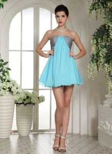 Mississauga Ontario Ruched Strapless Graduation Dress for High School
