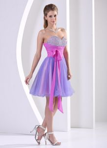 Multi-color Beaded Sweetheart Sash Graduation Dress in Bristol Vermont