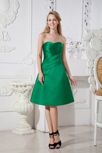 Green A-line Sweetheart Ruches A-line Grad Dress in Pereira Colombia