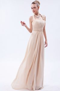 Champagne Halter Ruches Junior Graduation Dress in Chandler Oklahoma