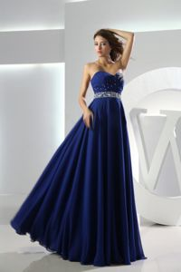 Royal Blue Beaded Sweetheart Ruches Graduation Dress in Montero Bolivia