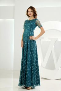 Teal Empire Scoop Embroidery Graduation Dress in Corrientes Argentina