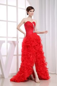 Ruffles Beading Mermaid Sweetheart Red Grad Dress in Quilmes Argentina