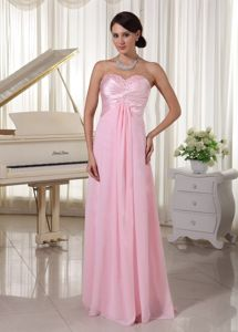 Beaded Sweetheart Baby Pink Prom Gown for Graduation in Callander