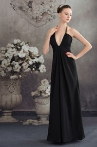 New Arrival Black Hater Floor-length Graduation Ceremony Dress in Austin