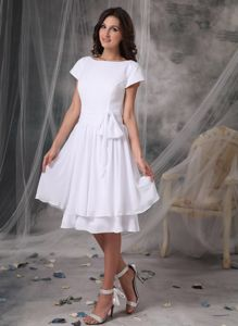 Bateau Knee-length Senior Graduation Dresses in Chiffon in Northbrook