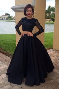 Colorful Scoop Long Sleeves Chiffon Vestidos de Quinceanera Sequins Zipper