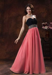 Watermelon Sweetheart Cheap Graduation Dresses with Beading in Aurora