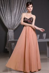 Orange Sweetheart Middle School Graduation Dresses with Pleats in Duluth