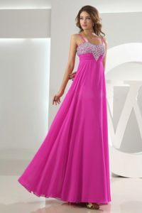 Beaded Fuchsia Graduation Dresses For Grade 8 with Straps in Conyers