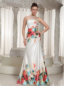 Printed Floor-length Strapless 5th Grade Graduation Dresses in Pembroke Pines
