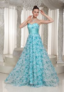 Sweetheart Floor-length College Graduation Dresses with Printing in Hialeah