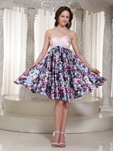 Sweetheart Beaded 5th Grade Graduation Dresses with Printing in Gainesville