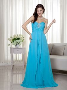 The Best Brush Train Beaded Teal Graduation Dresses for 8th Grade on Sale