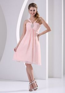 Cute Straps Baby Pink Short Graduation Dresses in Glennallen USA