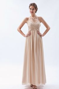 Recommended Champagne Long Chiffon College Graduation Dress in Gustavus AK