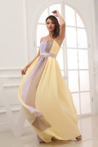 Ruching Strapless Chiffon School Anniversary Party Dress with Ruching