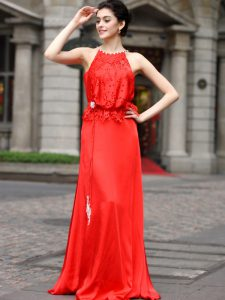 Scoop Sleeveless Zipper Floor Length Beading and Appliques Sweet 16 Dresses
