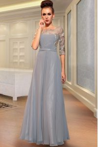 Enchanting Ankle Length Side Zipper Vestidos de Quinceanera Grey for Prom and Party with Beading and Embroidery