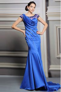 Fantastic Scoop Satin Sleeveless 15 Quinceanera Dress Court Train and Beading
