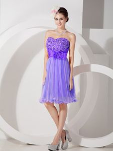 Purple Sweetheart Ruched and Beading Graduation Dresses for Girls in Ross