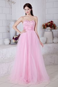 Baby Pink Sweetheart Beaded Ruched Formal Graduation Dresses in Thunder Bay