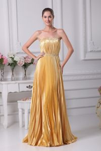 Unique Strapless Ruched Beaded Gold Evening Dresses for Graduation in Grafton