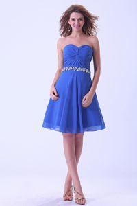 Sweetheart Knee-Length Ruched Dress for Graduation with Appliques in Crinan