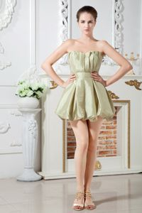 Olive Green Sweetheart Graduation Dresses For Juniors Mini-length