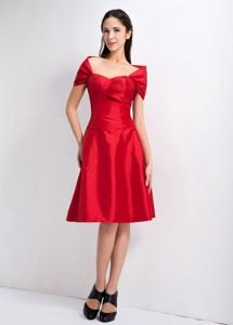 Special Sweetheart Zipper-up Red Knee-length Dresses for School Parties