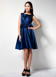 Elegant Scoop Royal Blue School Classy Party Dress with Flowers in Dallas