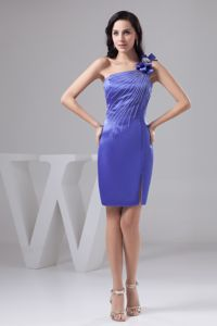 one Shoulder Purple School Spring Party Dress with Bowknot and Beading in Phoenix