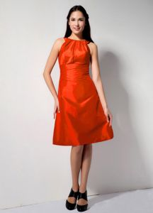 Latest Red Bateau A-line College Graduation Dress in Floor-length in Grand Detour