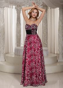 Multi-color Sweetheart Floor-length 5th Grade Graduation Dresses with Pattern