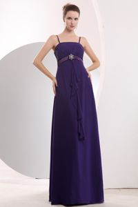 Fast Shipping Spaghetti Straps Purple Long Graduation Dresses for High School
