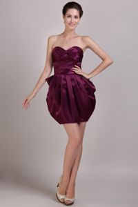 Special Sweetheart Burgundy Mini Graduation Dress in Trussville USA