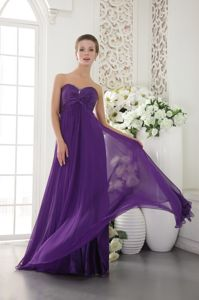 Recommended Sweetheart Eggplant Purple Long Grad Dress for 2013