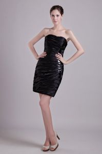 Discount Ruched Little Black Graduation Dress under 150 Free Shipping