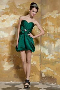 Most Popular Dark Green Mini Graduation Dress with Bow in Fayette USA