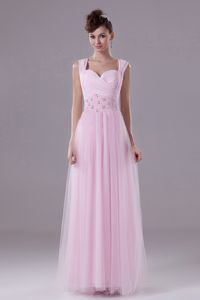 Custom Made Prom Dresses in Pink for 8th Grade with Beading in Texas
