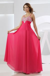 Straps 8th Grade Graduation Dress with Beading in Hot Pink in Oregon